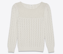 pullover in ivory victorian jacquard