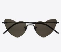 New Wave Loulou 254 Heart Sonnenbrille mit schwarzem Linsen