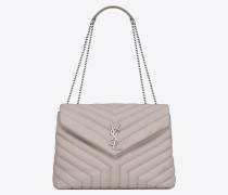 """Medium Loulou bag in """"Y""""-quilted leather"""