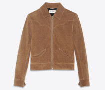 Western-Jacke aus Vintage-Veloursleder