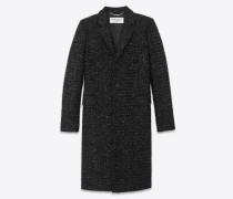 Chesterfield-Mantel aus schwarzem Lurex