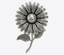 FLOWERS Blumenbrosche mit Metallstil