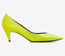 KIKI pumps in patent fluorescent leather