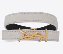 OPYUM doppeltes Armband aus Vintage-Lammleder