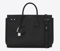 large sac de jour souple bag in black leather