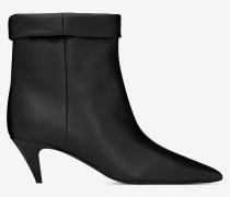 Charlotte 55 Stiefelette aus schwarzem Leder
