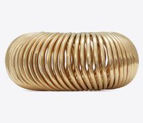 MINIMALISTE mehrreihiger Armreif aus hellgoldfarbenem Metall