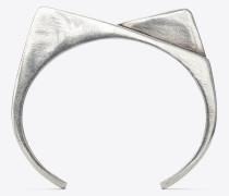 Two-slope bracelet in brass