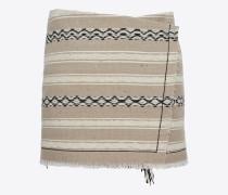 mini-wickelrock aus beigem berbertuch