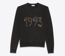 1993 sweatshirt aus schwarzem fleece