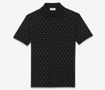 Dotted Swiss square polo shirt
