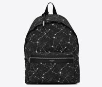 CITY Rucksack aus Canvas mit Sternkonstellationsprint