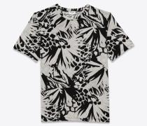 T-Shirt mit Dschungelblumen
