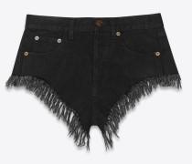Ausgefranste Jeans aus schwarzem Denim mit abgenutzter Optik