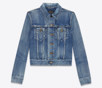 denim jacket indigo vintage blue