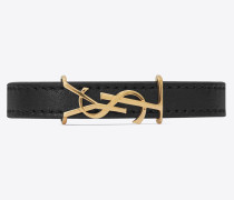 OPYUM double bracelet in leather and metal
