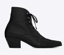 SUSAN Laced ankle boots in leather