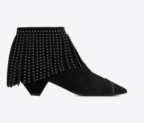 Blaze 45 Schnürstiefelette aus schwarzem Veloursleder