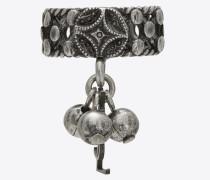 Folk Phalanx-Ring aus silberfarbenem Metall mit Glocken