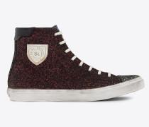 Bedford halbhohe Sneakers aus farbigem Glitzer