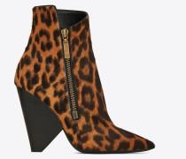 NIKI Stiefel aus Kalbsleder mit Leopardentupfen