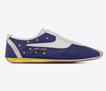 Jay Sneaker aus marineblauem und weißem Leder