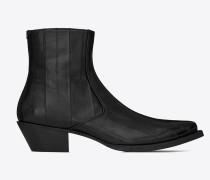 LUKAS schwarze Stiefel aus schwarzem Aalleder