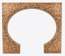 TRIBAL eckiger Block-Armreif aus gehämmertem Metall