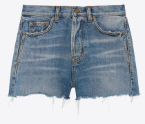 Denim shorts with ethnic band