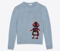Robot jacquard sweater