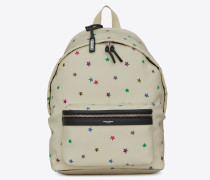 City canvas backpack with stars print