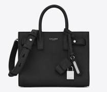 weiche nano sac de jour-tasche in schwarz