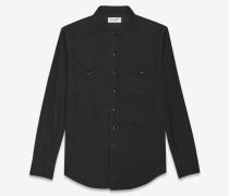 Hemd im Westernstil aus schwarzem Cord