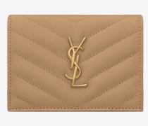 MONOGRAMME Kartenetui aus Leder mit Grain-de-Poudre-Struktur