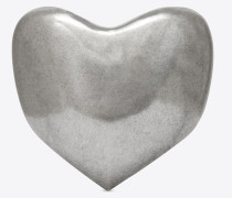 Love Herzhalskette aus silberfarbenem Metall
