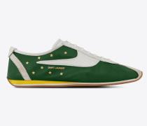Jay Sneaker aus grünem und weißem Leder
