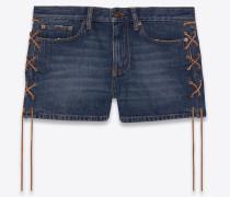 Shorts mit Kordelzug aus blauem Vintage-Denim