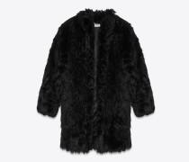 Mantel aus schwarzem Alpaka