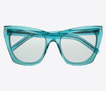 sonnenbrille new wave 214 kate aus acetat mit türkisblauen, transparenten gläsern