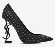 OPYUM pumps in leather and studs with black heel