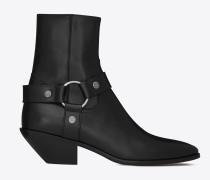 WEST Stiefel aus schwarzem Leder