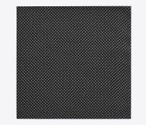 quadratischer yves schal aus schwarz-weißer baumwolle