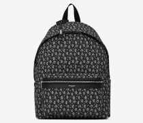 CITY canvas backpack with robot print