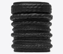 MINIMALISTE Armband aus schwarzem Leder