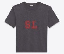 t-shirt mit sl-print aus anthrazitgrauem jersey