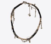 Anliegende WESTERN Halskette mit Metallanhängern