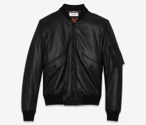 bomber jacket in leather
