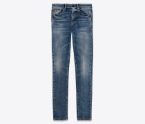 Skinny-Jeans mit SL-Wappenstickerei