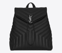 medium loulou rucksack in schwarz
