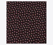 Großer, quadratischer Schal aus Wollmousselin mit Sternenprint